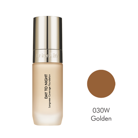 Dr Irena Eris Day To Night Longwear Coverage Foundation 24h, 030W Golden, 30ml - Podkład do twarzy