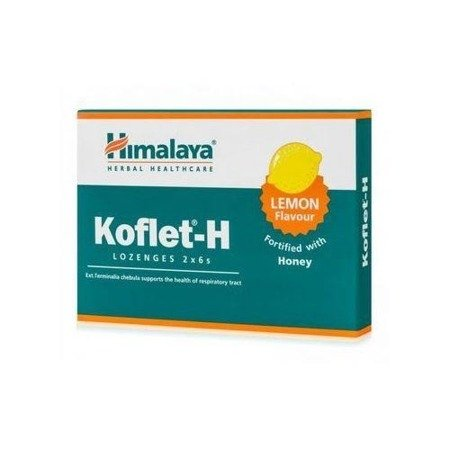 Himalaya Herbal Healthcare Koflet-H suplement diety na kaszel Lemon 12 pastylek
