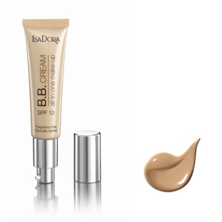 IsaDora BB Cream 14 cool beige all-in-one make-up 35 ml SPF 12 - podkład do twarzy  +  [  G  R  A  T  I  S : MINI-MASKARA ISADORA ]