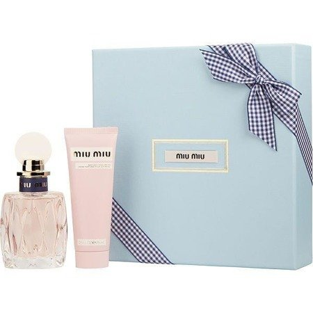 Miu Miu L'Eau Rosee zestaw woda toaletowa spray 100ml + krem do rąk 75ml