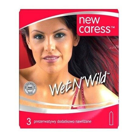 New Caress Wet N'Wild lateksowe prezerwatywy 3szt