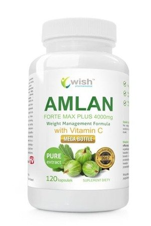 WISH Amlan Forte Max Plus 4000mg with Vitamin C Agrest Indyjski suplement diety 120 kapsułek
